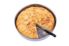 Traditional bulgarian food banitsa stuffed with cheese, isolated Stock Images