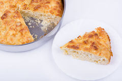 Traditional bulgarian food banitsa stuffed with cheese Stock Photo