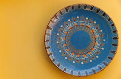 Traditional Bulgarian hand-made plate Royalty Free Stock Photos