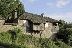 Traditional Bulgarian village house Stock Photo