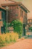 Traditional Bulgarian house. Vintage houses in old town Sozopol, Bulgaria Stock Image