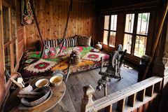 Traditional Bulgarian interior Stock Images