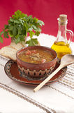 Traditional Bulgarian Lentil Soup Stock Photos