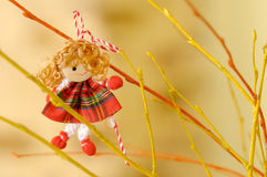 Traditional Bulgarian Martenica. Martenicas are given on 1st March in Bulgaria as a symbol of health and prosperity Stock Image