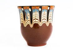 Traditional Bulgarian painted ceramic cup Stock Photos