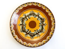 Traditional Bulgarian painted ceramic plate Royalty Free Stock Photography