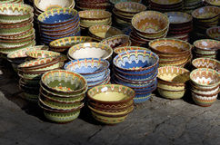 Traditional bulgarian pottery Royalty Free Stock Images