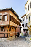 Traditional bulgarian  red house in the old town of Plovdiv, Bulgaria Stock Images