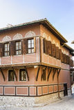 Traditional bulgarian  red house in the old town of Plovdiv, Bulgaria Stock Image