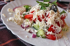 Traditional Bulgarian salad - shopska salad Stock Images