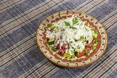 Traditional bulgarian Shopska salad Royalty Free Stock Photo