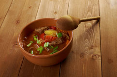 Traditional Bulgarian soup chorba. Royalty Free Stock Image