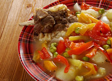 Traditional Bulgarian soup chorba Stock Image