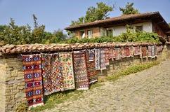 Traditional Bulgarian woven fabrics Royalty Free Stock Photo