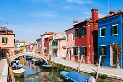 Traditional Burano colored houses, Venice Stock Photo