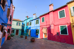 Traditional Burano colored houses, Venice Stock Photography