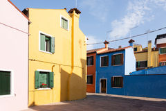 Traditional Burano colored houses, Venice Stock Image