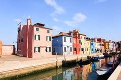 Traditional Burano colored houses, Venice Royalty Free Stock Image