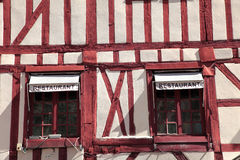 Traditional Burgundy timbered building in Dijon, France Royalty Free Stock Photography