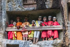 Traditional burial site in Tana Toraja Stock Photography