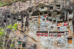 Traditional burial site in Tana Toraja Stock Image