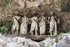 Traditional burial site in Tana Toraja Stock Image