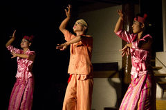 Traditional Burmese Dancers Royalty Free Stock Photography