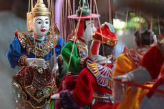 Traditional burmese puppets Royalty Free Stock Image