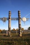 Traditional Buryat pagan sacred poles. The Baikal Royalty Free Stock Photos