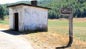 Traditional bus stop in North Portugal Stock Photo