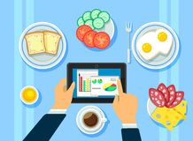 Traditional Business Breakfast Concept Royalty Free Stock Photography