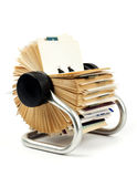 Traditional business card holder Stock Image