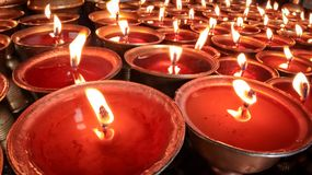 Free Traditional Butter Lamps Stock Photography - 136766092