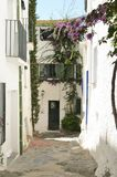 Traditional Cadaques house with green shutters Stock Images