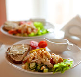 Traditional caesar salad Royalty Free Stock Images