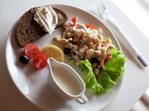 Traditional caesar salad Royalty Free Stock Photo