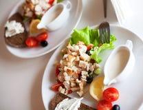 Traditional caesar salad Royalty Free Stock Photography