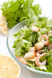 Traditional Caesar Salad with Shrimps Stock Photography