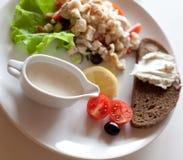 Traditional caesar salad Stock Photography