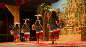 Traditional Cambodian basket dance Royalty Free Stock Images