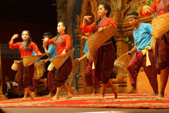 Traditional Cambodian basket dance Royalty Free Stock Photos