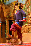 Traditional Cambodian basket dance Royalty Free Stock Image