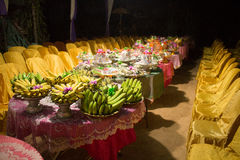 Traditional Cambodian Khmer Wedding Fruit Food for a Feast Stock Image
