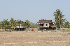 Traditional Cambodian wooden houses. Kampot, Cambodia Stock Photos