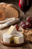 Traditional Camembert cheese with homemade bread Royalty Free Stock Photography