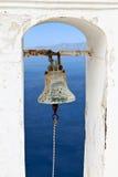 Traditional campanile at Santorini, Greece Stock Photos