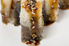 Traditional canada sushi roll. Royalty Free Stock Images