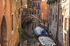 Traditional canal in the center of Venice Royalty Free Stock Photography