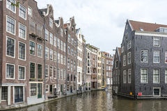 Traditional canal houses in Amsterdam, Netherlands Royalty Free Stock Images