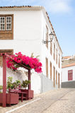Traditional canarian house in Agulo, La Gomera. royalty free stock photos